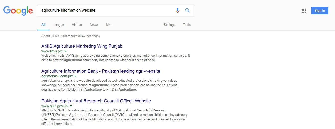 Top 3 agriculture Information Website of Pakistan