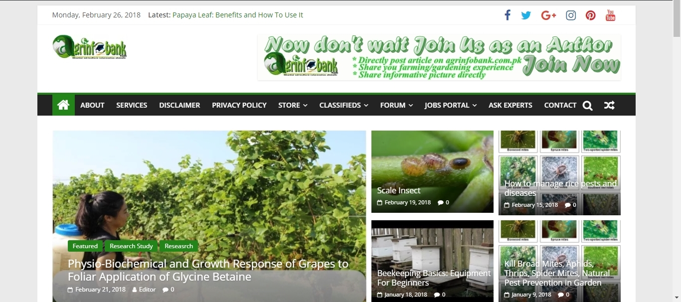 Agriculture Information Websites