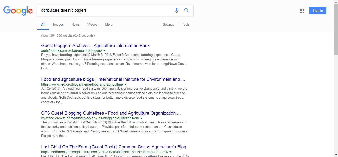 Agriculture and farming guest blogging websites